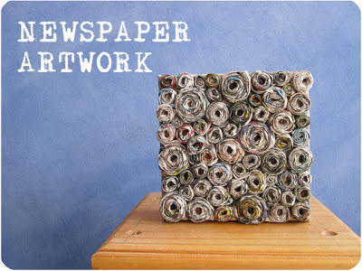 How to: Newspaper canvas artwork