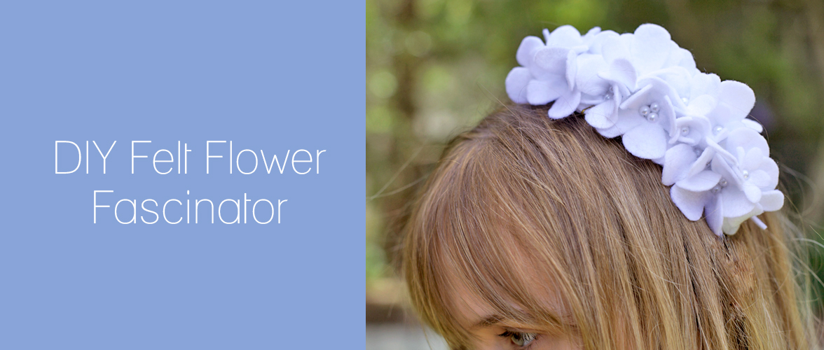 How to: Felt flower fascinator