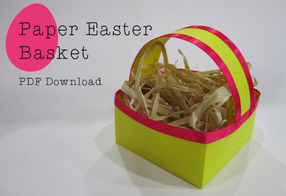 Easter craft printable basket crafted