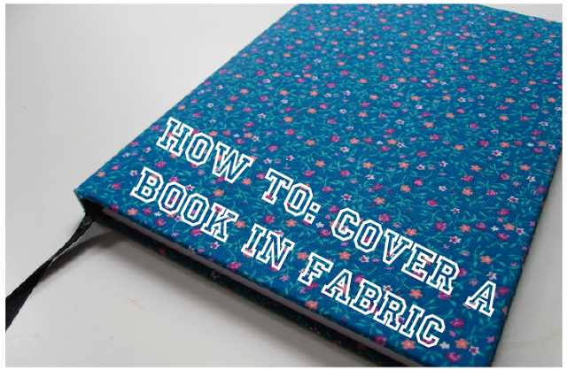 Make A Fabric Book Cover : How to cover a book in fabric crafted