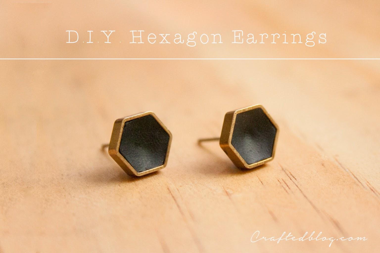 D.I.Y. Hexi earrings