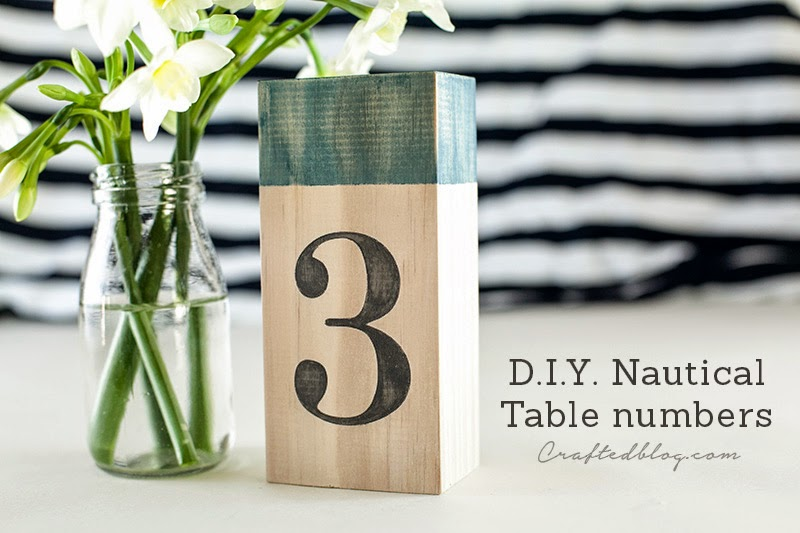 DIY nautical table numbers