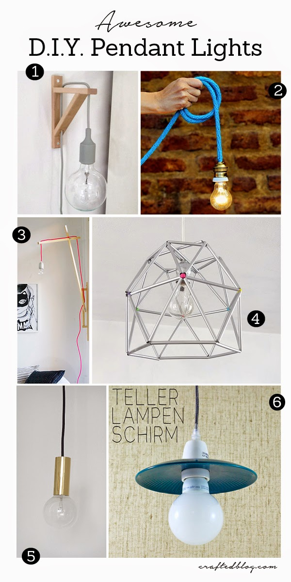 6 diy pendant light ideas crafted 6 diy pendant light ideas aloadofball Image collections