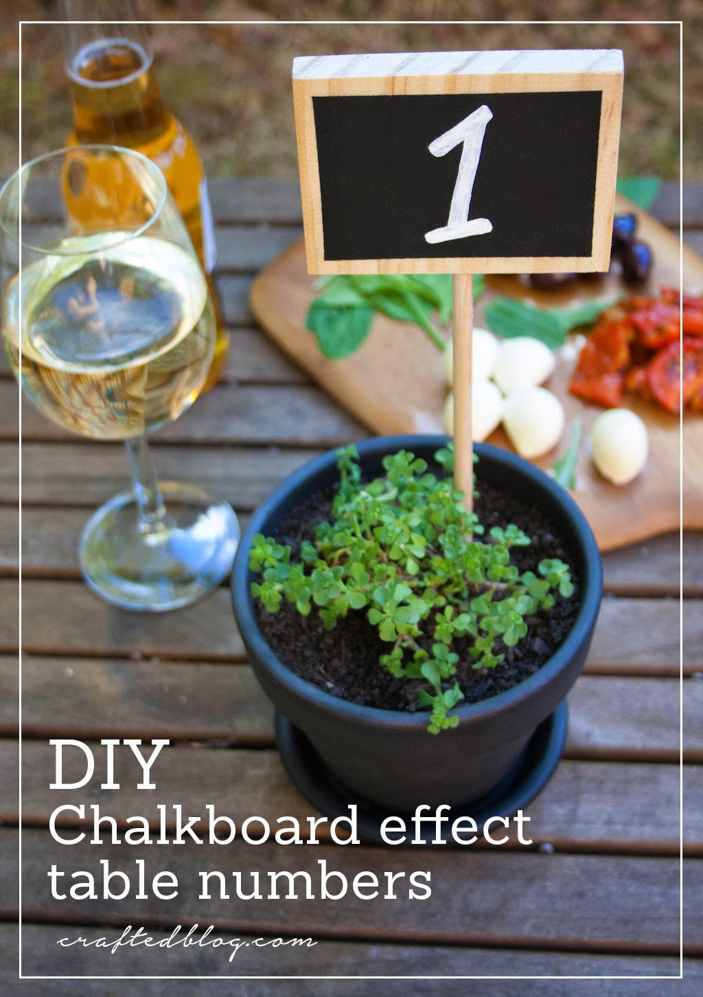 DIY Chalkboard Effect Table Numbers