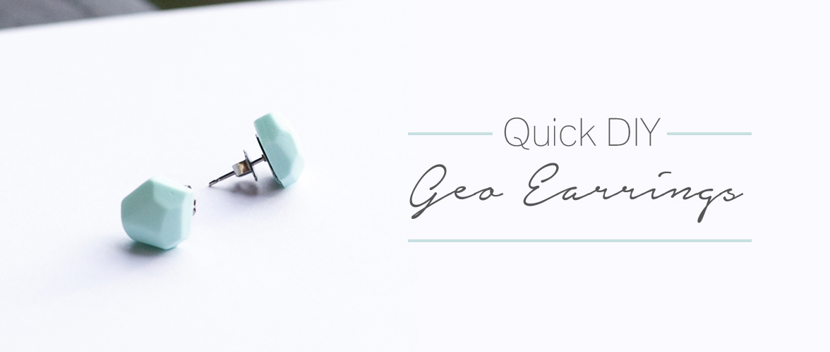 Quick DIY – Geo Earrings