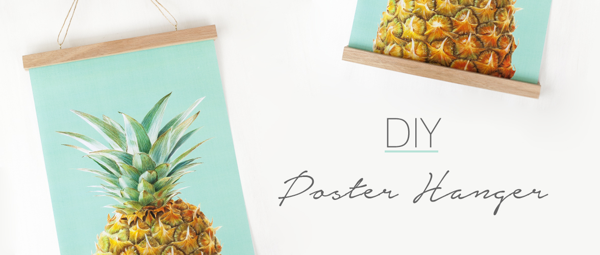 Make your own Poster hanger - Great way to display art ...